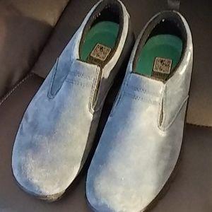 Blue suade like ,Land's End shoe. Size 9
